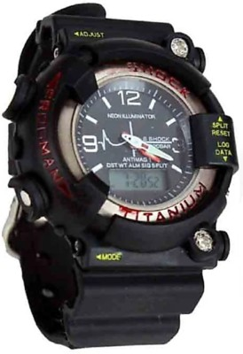 kids choice LATEST NEW TRAND ADDICTION Chronograph Style Sports Water Resistance Black Collection Digital WRIST Watch - For Men & Women c shock Sports Water Resistance Analog-Digital Watch  - For Boys