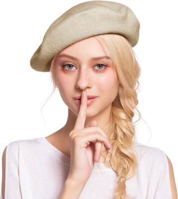 ZACHARIAS Angora Woolen Hat(Beige, Pack of 1)