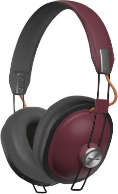 Panasonic RP-HTX80B-R Retro Bluetooth Bluetooth Headset(Red, On the Ear)