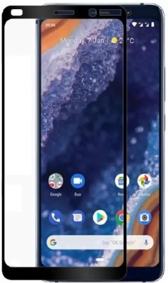 Kuber Edge To Edge Tempered Glass for Google Pixel 3AXL True curved glass(Pack of 1)