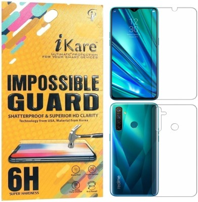 iKare Front and Back Screen Guard for Realme 5 Pro(Pack of 2)