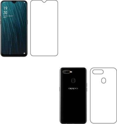 PR SMART Front and Back Tempered Glass for Oppo A5S(Pack of 2)