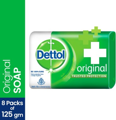 Dettol Bathing Bar Soap, Original  (8 x 125 g)