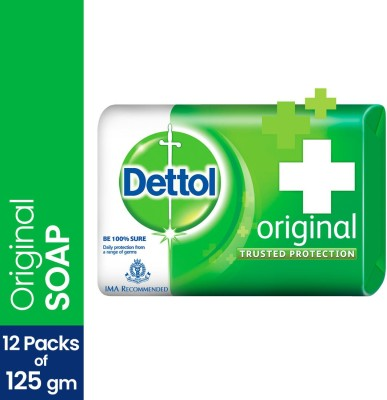 Dettol Bathing Bar Soap, Original (12 x 125 g)