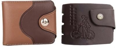 Mundkar Men Casual Brown Artificial Leather Wallet 3 Card Slots