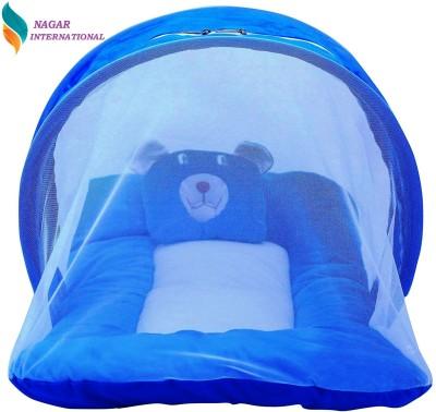 Nagar international Polyester, Cotton Bedding Set(Blue)