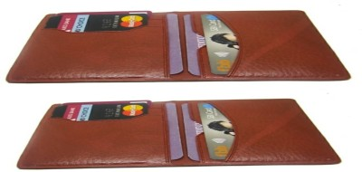 D MALL 7 Card Holder(Set of 2, Brown)