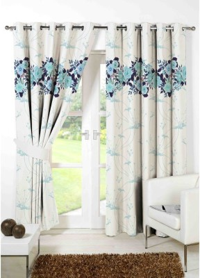 Indiancraft 274 cm (9 ft) Polyester Long Door Curtain (Pack Of 2)(Printed, Multicolor)