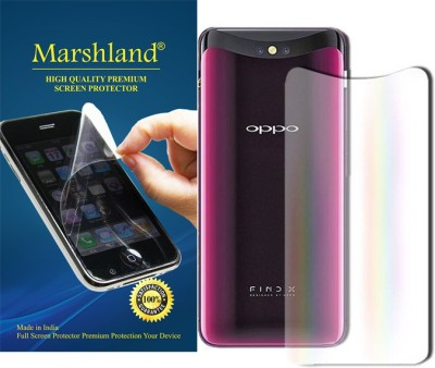 Marshland Back Screen Guard for Anti Fingerprint Screen Protector, Oppo Find X, Flexible Anti Scratch Bubble(Pack of 1)