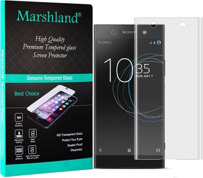 Marshland Edge To Edge Tempered Glass for Sony Xperia XA1 Ultra Dual, 9H Hardness 3D Curved, Full Screen Coverage Air Bubble Proof, Scratch Resistant, Transparent(Pack of 1)