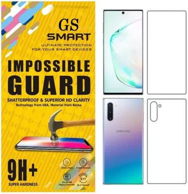 MobileZon Front and Back Screen Guard for Samsung Galaxy Note 10 Plus(Pack of 1)