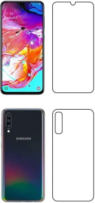 PR SMART Front and Back Tempered Glass for Samsung Galaxy A70, Samsung A70, (Flexible)(Pack of 2)