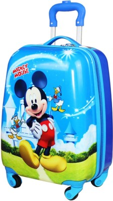 GOCART 360Ã?Â? Rotating Wheels,Mickey Mouse Printed Pattern Non Breakable   Extra Light Weight Kids Trolley Bag  Multi Colour  16\ GOCART Suitcases