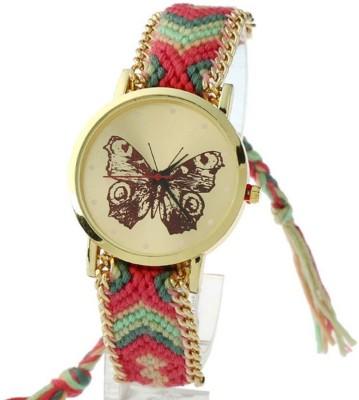 DRIJA ENTERPRISE geneva 22 red butterfly Analog Watch  - For Women