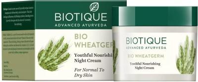 Biotique bio wheatgerm youthful nourshing night cream 50gm(75 g)