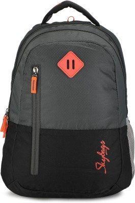 Skybags BPLEO3GRY 26 L Backpack(Black, Grey)