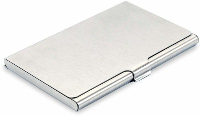 umravatiya 6 Card Holder(Set of 1, Silver)