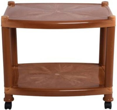 Sauran Plastic Coffee Table(Finish Color - Light Brown)