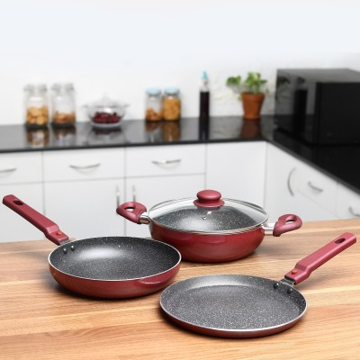 Prestige Omega Festival Pack Induction Bottom Cookware Set(Aluminium, 3 - Piece)