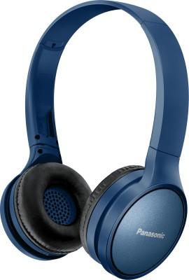 Panasonic RP-HF410BGCA Bluetooth Headset(Blue, Black, On the Ear)