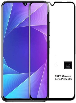 PRINTCOACH Tempered Glass Guard for Full Edge-to-Edge Coverage Tempered Glass Screen Protector for VIVO Y17 -Black(Pack of 1)