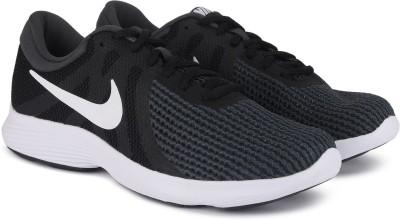 NIKE Wmns Revolution 4 Running Shoes For Women Black, Green NIKE Running
