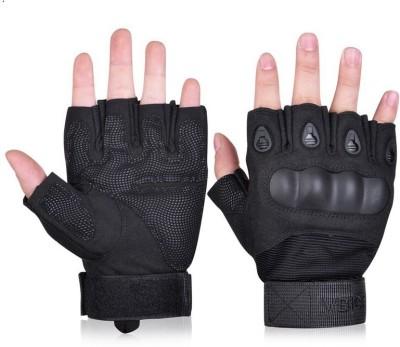 GOCART Tactical Airsoft Paintball Gloves Men Half Finger Hard Knuckle Gloves Gym & Fitness Gloves(Black)