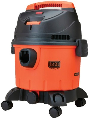 Black & Decker WDBD15 Wet & Dry Cleaner (Orange, Black)