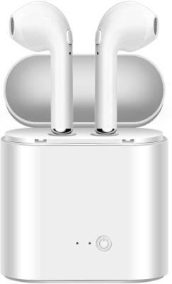 ulfat Bluetooth HD Wireless Headphone Bluetooth Bluetooth Headset (White, In the Ear)