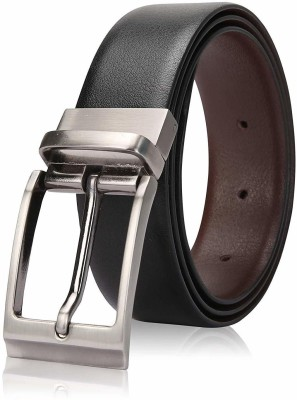 MS Men Party, Formal, Casual Black Artificial Leather Reversible Belt