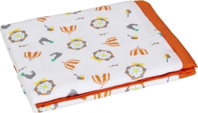 My Milestones Abstract Double Swadding Baby Blanket(Microfiber, Orange)
