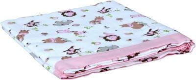 My Milestones Animal Single Swadding Baby Blanket(Microfiber, Pink)
