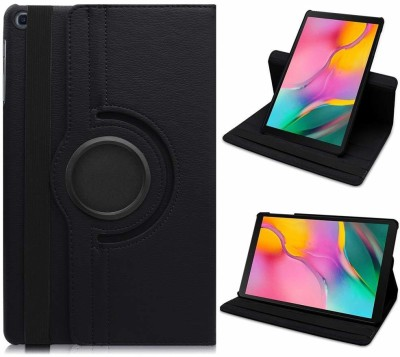 Snatchy Flip Cover for Samsung Galaxy Tab A 10.1 (2019) T515 (Premium 360 Degree Rotate Case)(Black)