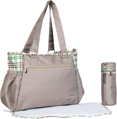 My Milestones Diaper Bag Diaper Bag Spectra  Brown Plaid Beige My Milestones Diaper Bags