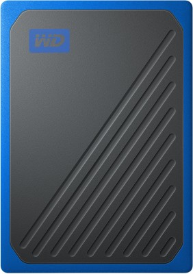 WD My Passport Go 1 TB External Solid State Drive(Blue, Black)