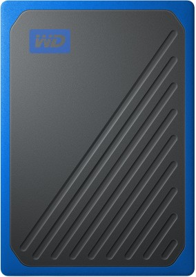 WD My Passport Go 500 GB External Solid State Drive(Blue, Black)