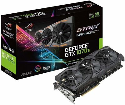 Asus NVIDIA Rog Strix Geforce Gtx 1070 Ti Advanced Edition 8GB Gddr5 With Aura Sync RGB For Best Vr &...