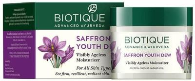 Biotique bio saffron youth dew visibly ageless moisturizer(50 g)
