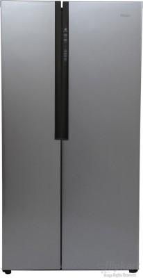 Haier 565 L Frost Free Side by Side Refrigerator(Silver, HRF-619SS)
