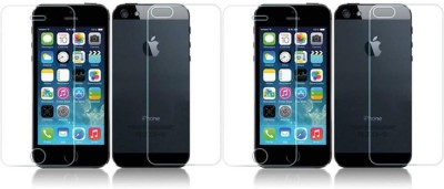 Digi Decor Impossible Screen Guard for Front Back Apple Iphone 4S FB(Pack of 2)