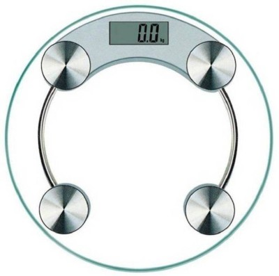 ZEOM Thick Tempered Glass) Weighing Scale Weighing Scale(White)