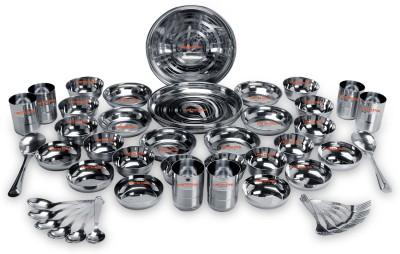 LiMETRO Stainless Steel Serving Glasses, Multi Purpose, Unbreakable Water Drinking Glasses Set - G3-10 Glass Set(Steel, 350 ml, Steel, Pack of 10)