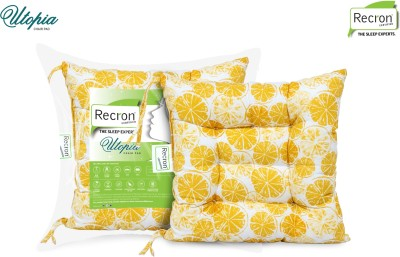 RECRON CERTIFIED Microfibre Fruits Chair Pad Pack of 2 (Yellow)