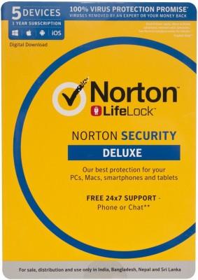 Norton Security Deluxe 5 User 1 Year(Voucher)