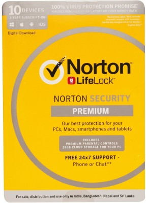 Norton Security Premium 10 User 3 Years(Voucher)