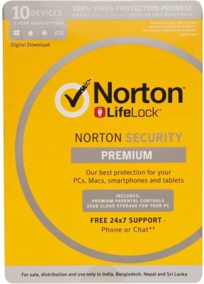 Norton Security Premium 10 User 1 Year(Voucher)
