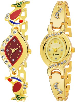 QUEBEC Combo Pack 2 Best Artist Designer Party-Wedding Bangle Watch For Women & GirlsPq-08 Analog Watch  - For Girls