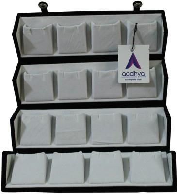 Aadhya 16 pair earring stuids storage box Vanity Box(Black)