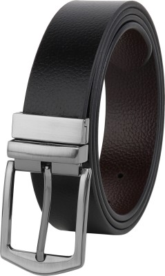 ZORO Men Evening, Party, Formal, Casual Black Genuine Leather Belt