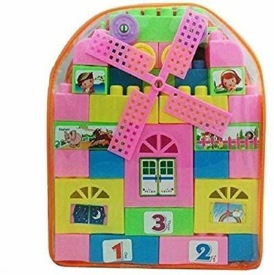 nawani 47 Pieces  Multicolour  Multicolor nawani Blocks   Building Sets